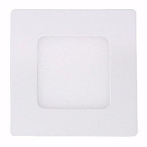Kit 10 Luminária Plafon Led Quadrado Embutir 3w  8,8x8,8 Branco Frio