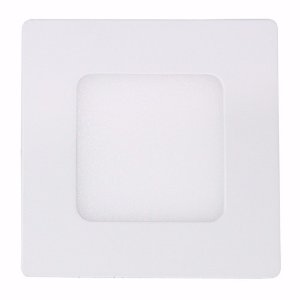 Kit 10 Plafon LED Luminária Quadrado Embutir 3w 8,8x8,8 Branco Frio 6000k