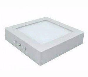 Kit 10 Plafon LED Luminária Quadrado Sobrepor 12w 17x17 Branco Frio 6000k