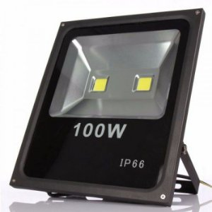 Refletor Holofote LED Cob 100W IP66 A prova D'Água Branco Frio 6000k