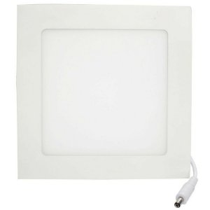 Luminária Plafon LED 6W 12x12 Quadrado De Embutir Branco Frio 6000k