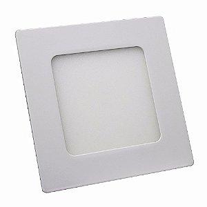 Kit 10 Luminária Plafon Led Quadrado Embutir 6w 12x12 Branco Frio