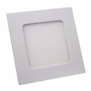 Kit 10 Plafon LED Luminária Quadrado Embutir 6w 12x12 Branco Frio 6000k