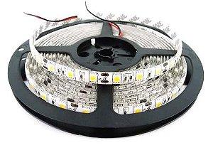 Fita LED 5050 Branco Frio 6000k Siliconada Prova D'água 5 Metros + Fonte