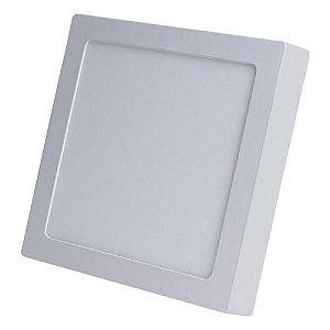 Luminária Plafon LED 25W 30x30 Quadrado De Sobrepor Branco Frio 6000k