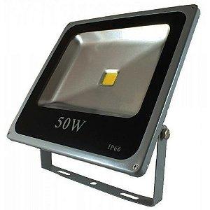 Refletor LED Holofote 50w IP65 A prova D'Água Branco Frio 6000k