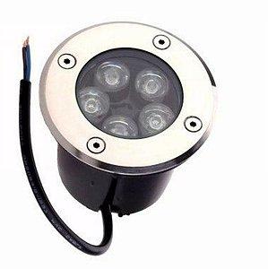 Spot Balizador LED 5W Embutir Para chão Jardim e Piso Branco Frio IP67 A Prova D'Agua