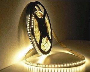 Fita LED 5 Metros Siliconada 5050 Branco Quente 3000k Prova D'água Sem Fonte