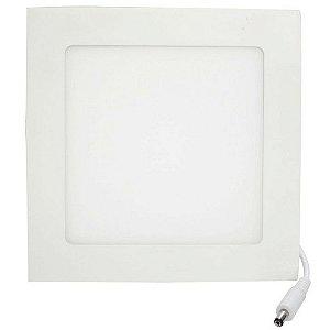 Kit 10 Luminária Plafon Led Quadrado Embutir 12w  17x17  Branco Quente