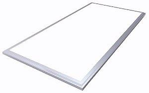 Luminária Plafon LED 36W 30x60 Retangular De Embutir Branco Frio 6000k