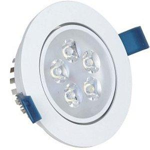 Kit 10 Spot 5W LED Dicróica Direcionavel Redondo Gesso Sanca Branco Frio 6000k