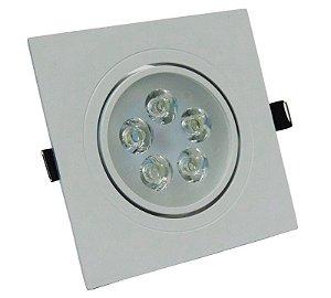 Kit 10 Spot Dicroica LED Embutir Quadrado 5w Gesso Sanca Branco Quente 3000k