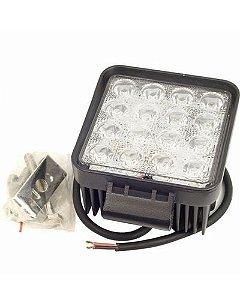 Par Faróis De Milha 48W 16 LED Quadrado 12/24v Off-road Automativo