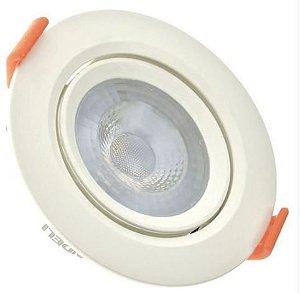 Spot 3W LED Dicróica COB Direcionavel Redondo Gesso Sanca De Embutir Branco Frio 6000k