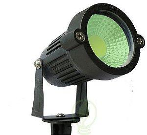 Luminária LED 5W Espeto De Jardim Cob Verde Prova D'água