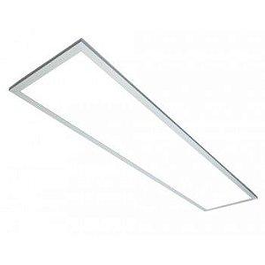Luminária Plafon LED 45W 30x120 Retangular De Embutir Branco Frio 6000k