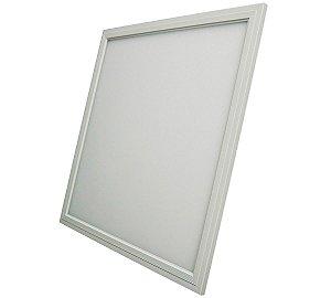 Luminária Plafon LED 48W 60x60 Quadrado De Embutir Branco Quente 3000k