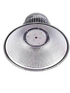 Luminária High Bay 50W LED Bivolt Industrial Galpão Ginásio Branco Frio 6000k