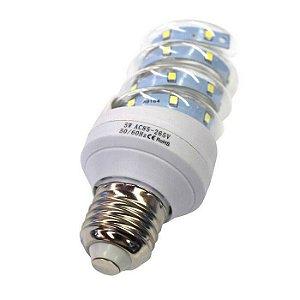 Lâmpada De Milho Espiral 5W LED Bivolt Branco Frio 6000k