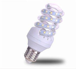 Lâmpada De Milho Espiral 9W LED Bivolt Branco Frio 6000k
