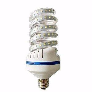 Lâmpada De Milho Espiral 30W LED Bivolt Branco Frio 6000k