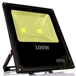 Refletor Holofote LED Cob 100W IP66 A prova D'Água Branco Quente 3000k