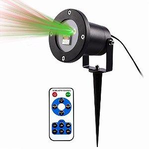 Luminária Projetor Laser LED 5W Espeto Jardim Prova D'agua Com Controle