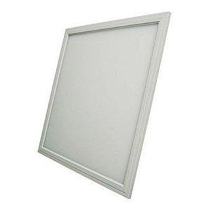 Luminária Plafon LED 36W 40x40 Quadrado Embutir Branco Quente 3000k