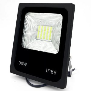 Refletor Holofote LED 30W SMD IP66 A prova D'Água Branco Frio 6000k