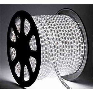 Fita LED 220v 5050 100 Metros Branco Frio 6000k A prova D'Água