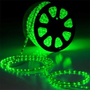 Mangueira LED 100 metros 110v Verde Ultra Intensidade - A prova dágua