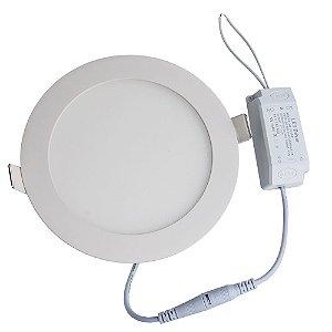 Plafon LED Luminária Redondo Embutir 3w 8,8x8,8 Branco Frio 6000k
