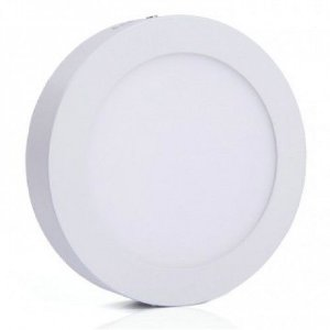 Luminária Plafon LED 6W 12x12 Redondo Sobrepor Branco Frio 6000k