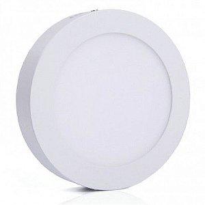 Luminária Plafon LED 6W 12x12 Redondo Sobrepor Branco Quente 3000k