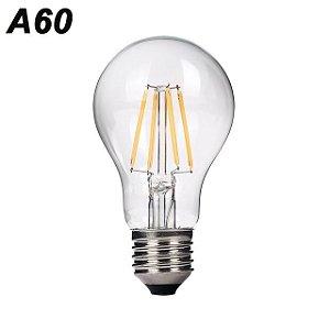 Lâmpada 4W LED Bulbo A60 Vintage Carbon Branco Quente 2700k