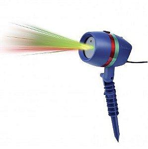 Espeto Projetor Laser Jardim Prova D'agua Laser Light 5w