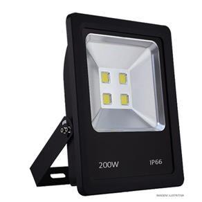Refletor LED Holofote 200w IP65 A prova D'Água Branco Frio 6000k Preto