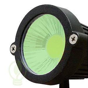 Luminária LED 7W Espeto De Jardim Cob Verde Prova D'água