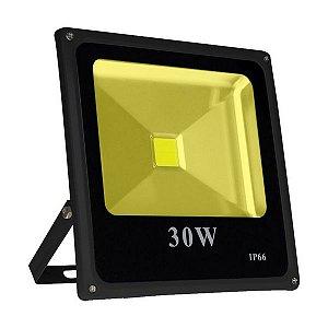 Refletor Holofote LED 30W IP66 A prova D'Água Branco Quente 3000k