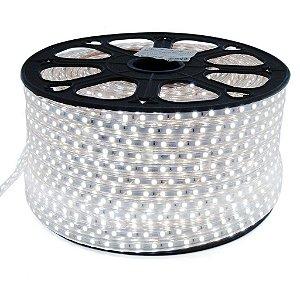 Fita LED 5050 100 Metros 110v A prova D'Água Branco Frio 6000k