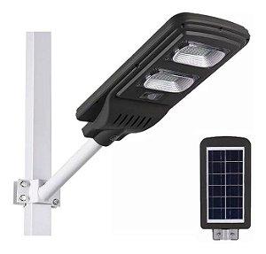 Luminária Pública De Poste Solar 40W LED Com Sensor e Controle