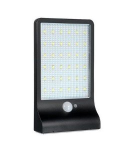 Luminaria Pública Solar Led Ip65  Completa 20w Refletor Branco Frio