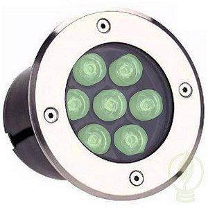 Spot Balizador LED 7W Embutir Para chão Jardim e Piso Verde IP67 A Prova D'Agua