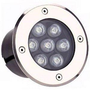 Spot Balizador LED 7W Embutir Para chão Jardim e Piso Branco Quente IP67 A Prova D'Agua
