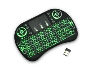 Mini Teclado Colorido LED Multicor Sem Fio Wireless Touchpad