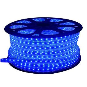 Fita LED 110v 5050 100 Metros Azul A prova D'Água