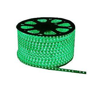 Fita LED 110v 5050 100 Metros Verde A prova D'Água