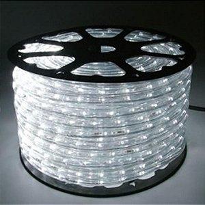Mangueira LED Achatada Branco Frio 100 metros 220v Ultra Intensidade - A prova D'água
