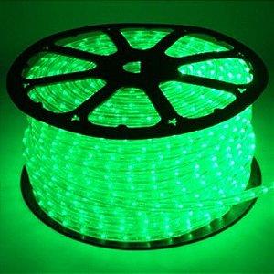 Mangueira LED Achatada Verde 100 metros 220v Ultra Intensidade - A prova dágua