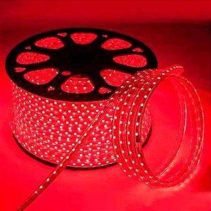 Mangueira LED 100 metros 220v Vermelho Ultra Intensidade - A prova dágua